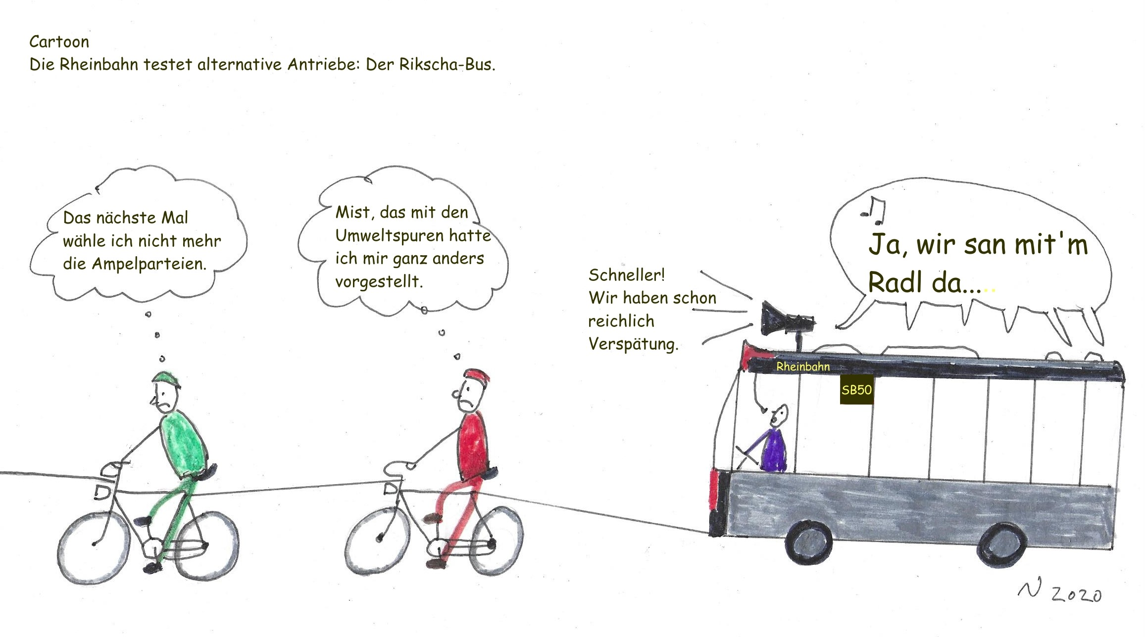 Rikscha Bus Cartoon